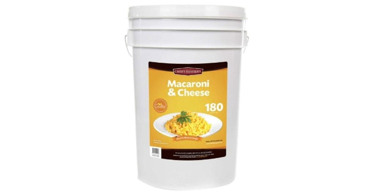 You Can Seriously Buy a 27-Pound Tub Of Mac And Cheese at Costco