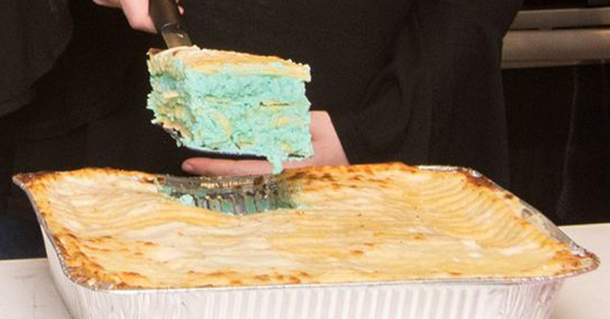 Gender Reveal Lasagna in Greensboro is Really Real
