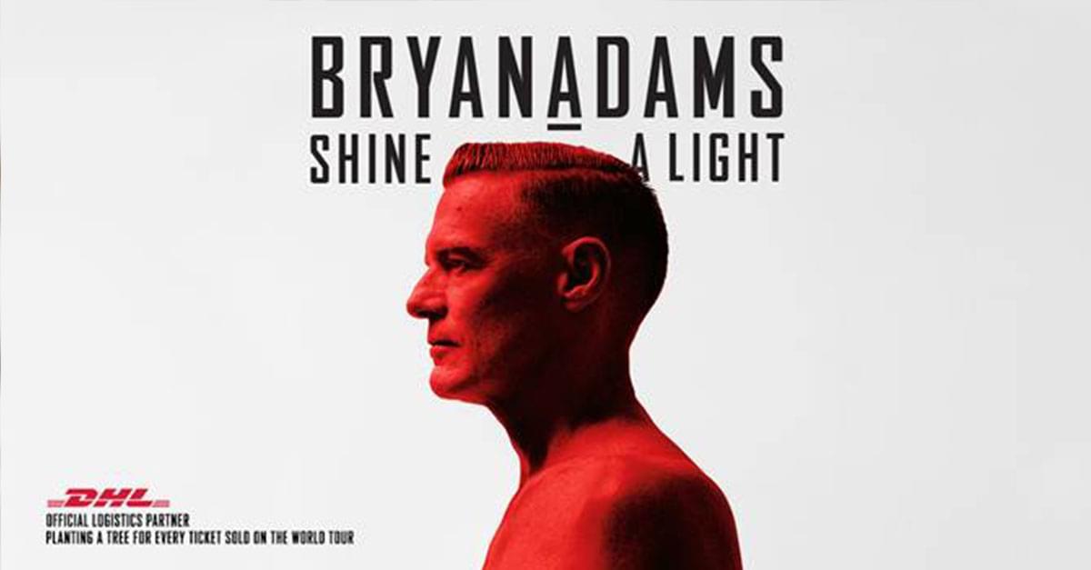 "Bryan Adams announces 2019 ""Shine A Light World Tour"""