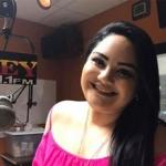 Sandra Padilla en el estudio