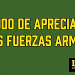 Saludo de apreciación a las fuerzas armadas: Martes