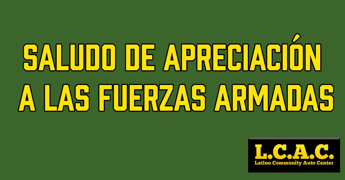 Saludo de apreciación a las fuerzas armadas: Lunes 17
