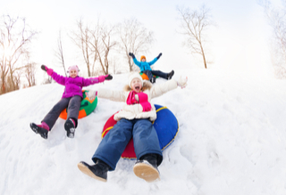 Go Sledding This Winter in Downtown Cary!