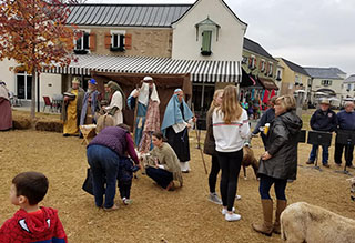 Kix at the Lafayette Village Holiday Celebration