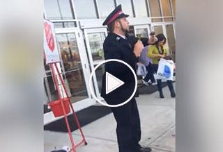 Dancing Salvation Army Man