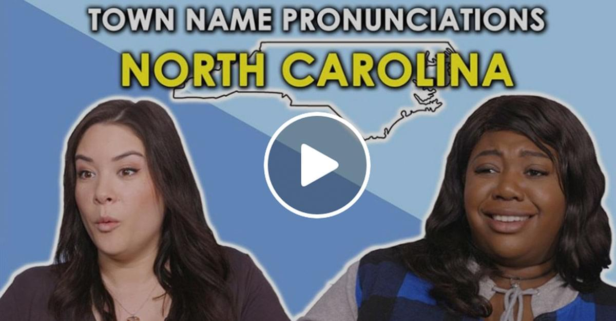 Watch: People try to Pronounce NC Towns