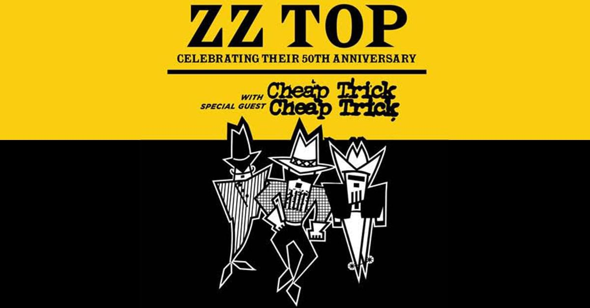 ZZ Top with Cheap Trick coming to Raleigh this fall!