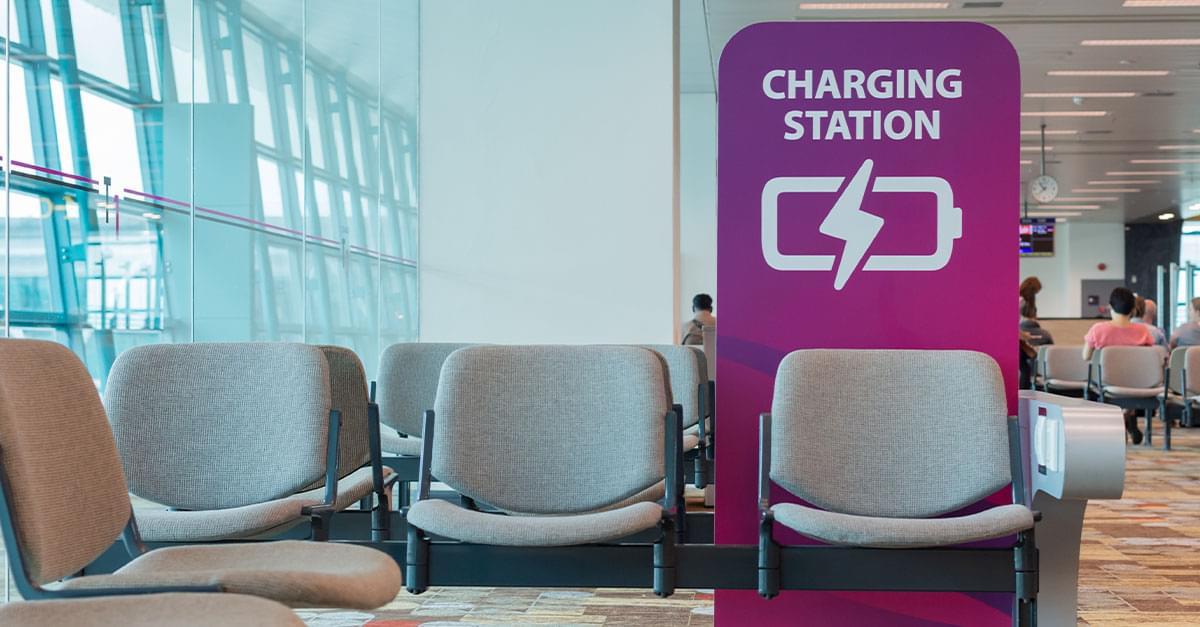 Don't use phone charging stations at airports!