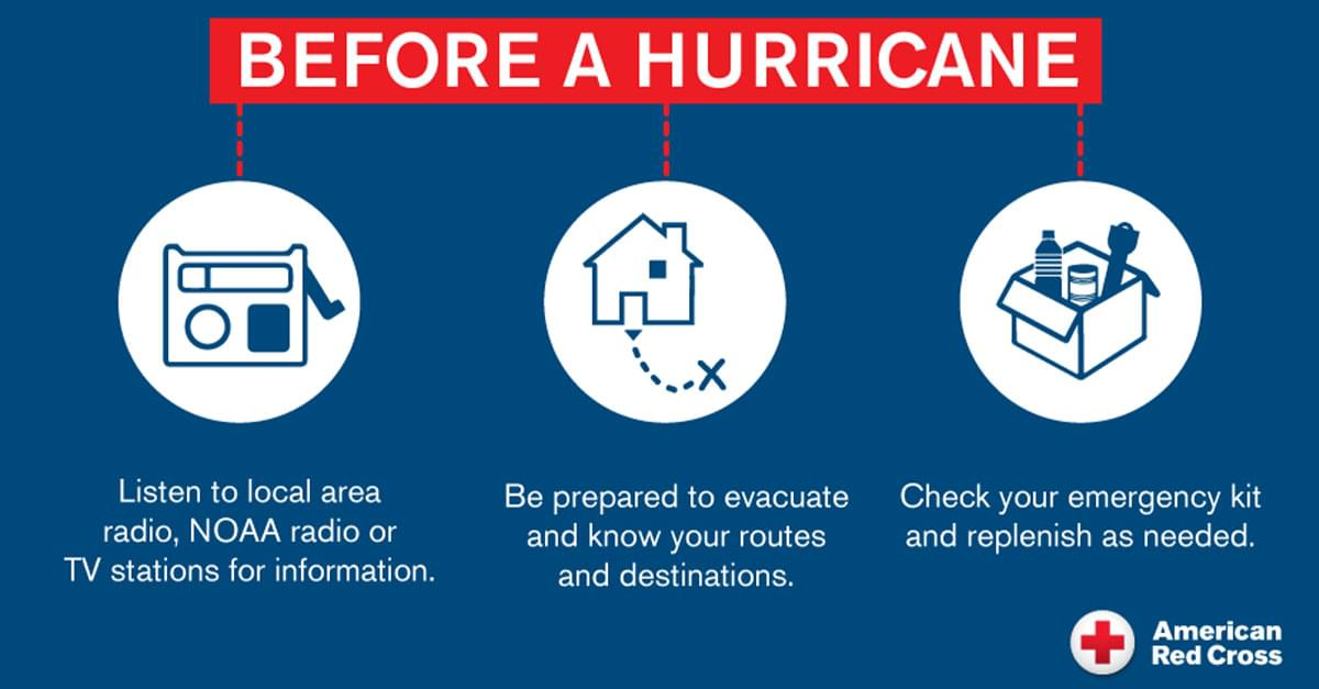 Red Cross Prepares for Hurricane Dorian, Urges Residents to Get Ready