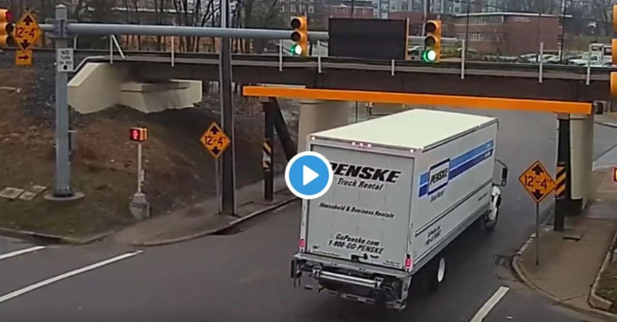 Truck Gets Stuck Under Infamous Durham Bridge, Recently Raised