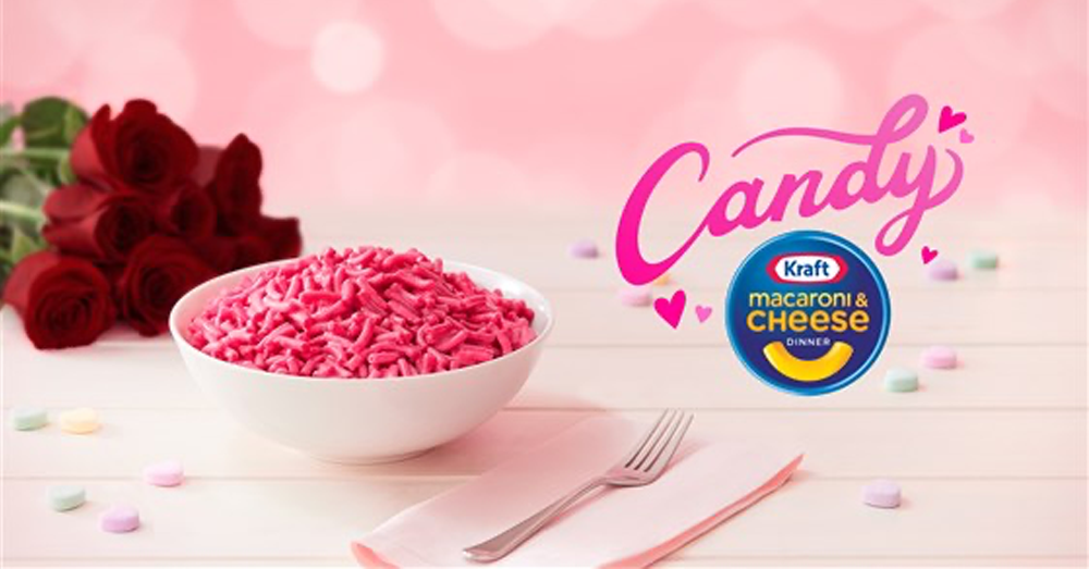Kraft launches pink candy-flavored mac and cheese for Valentine's Day