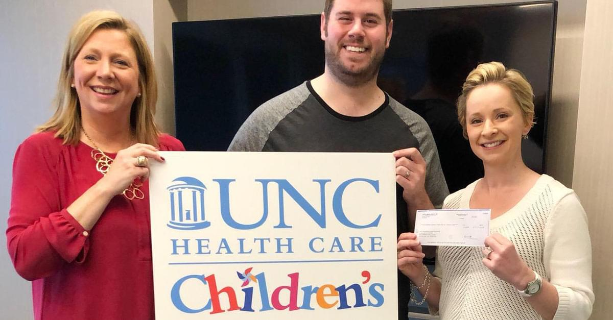 Jud Delivers Donation to UNC Children's Hospital!