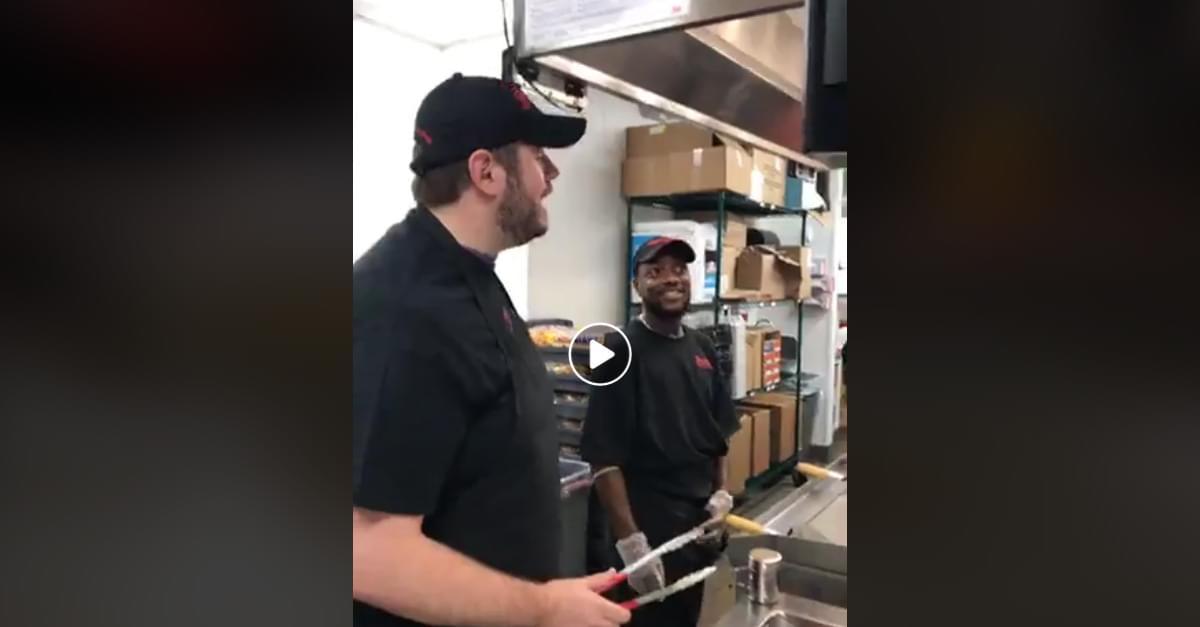 WATCH: Brittani and Jud make Burgers at Freddy's Frozen Custard & Steakburgers