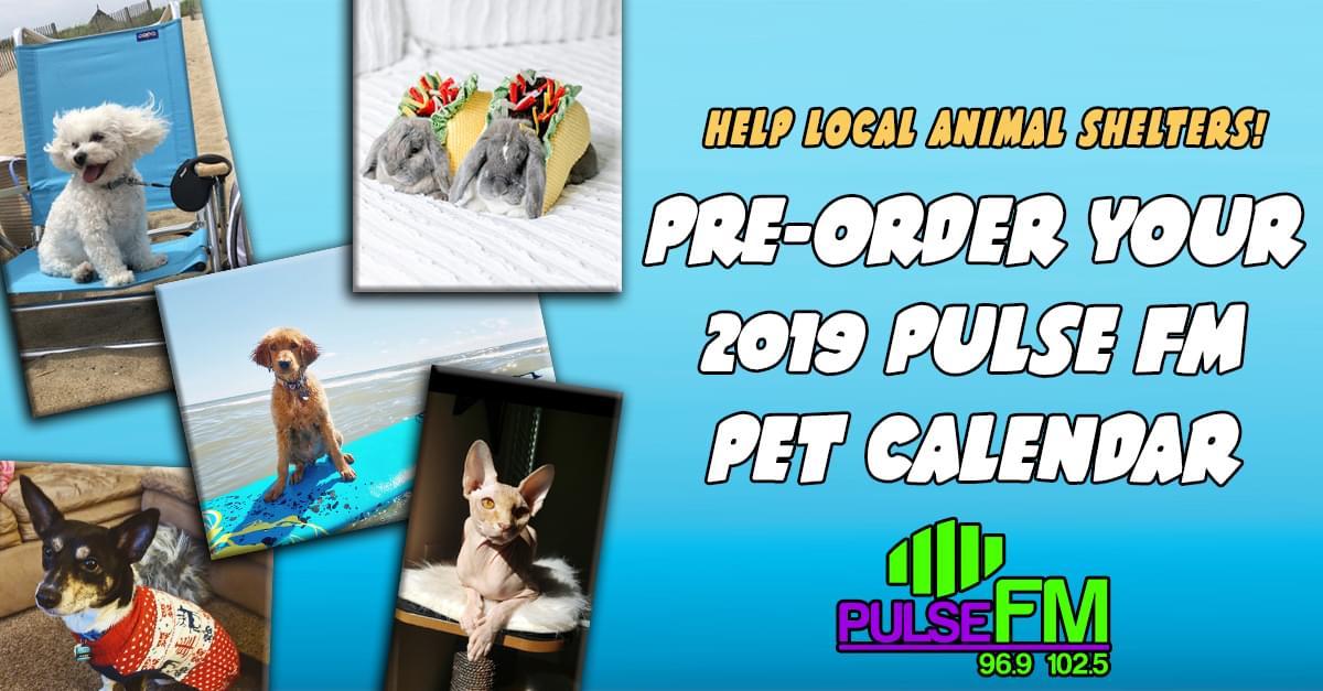Pulse FM Pet Calendar: Pre-Order