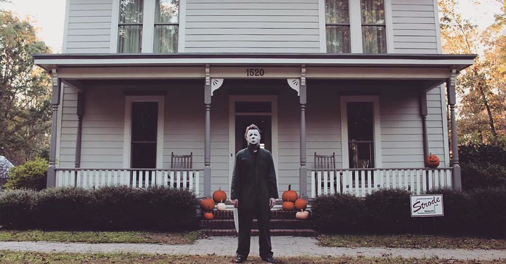You can walk around a replica of Michael Myers house in NC!