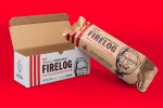 The perfect gift…. the KFC Fried Chicken Fire Log