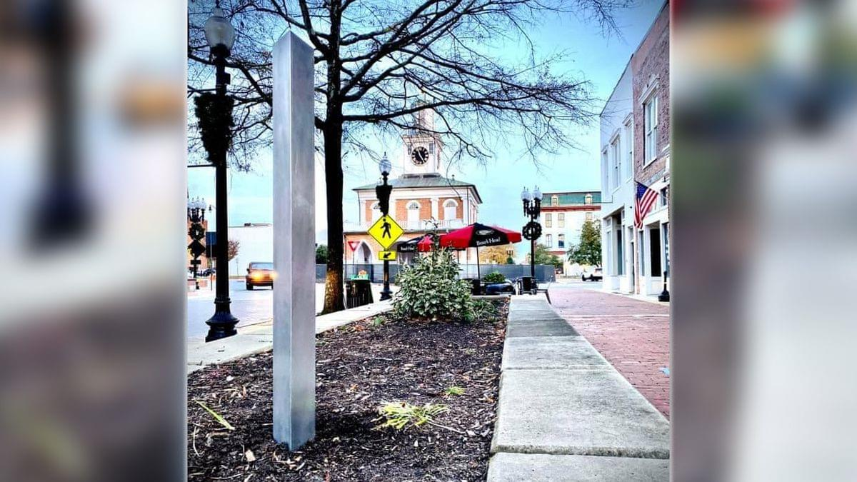 A Mini Monolith Has Appeared in Downtown Fayetteville