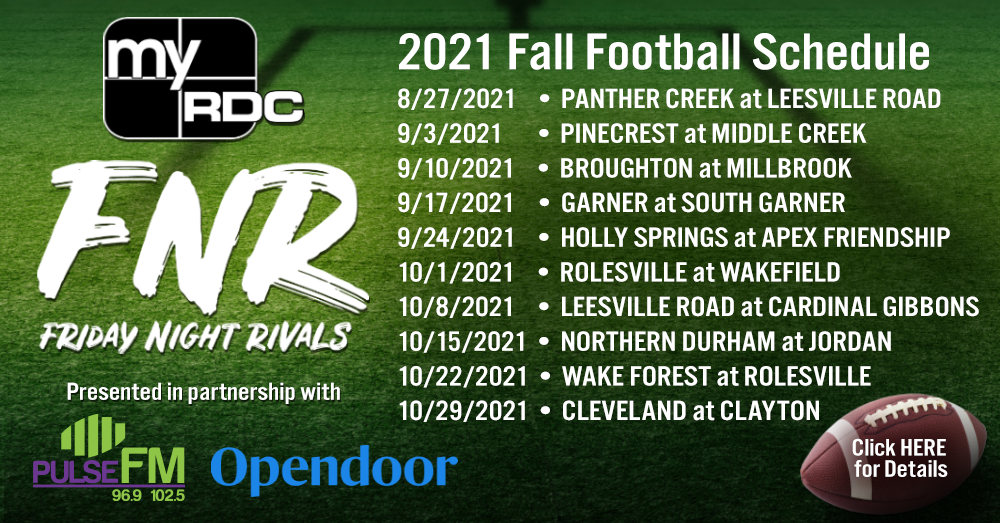 Friday Night Rivals Fall Football Schedule