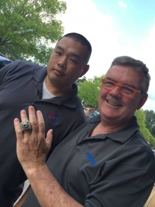 Superbowl Ring with Doc