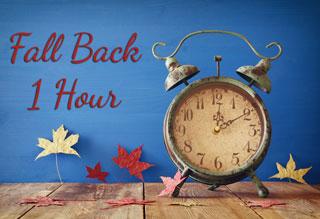 Reminder: Fall Back!