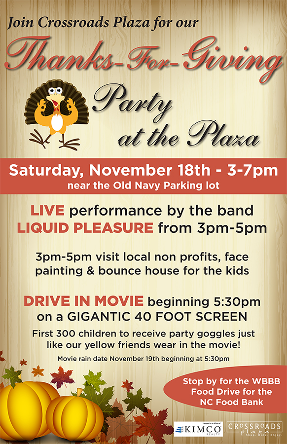 Crossroads Plaza Thanksgiving party