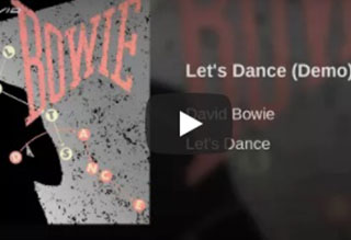 """David Bowie's """"Lets Dance"""" Demo"""