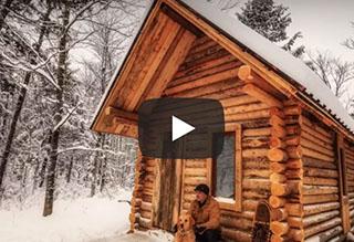 Watch: One Man Builds Log Cabin