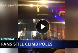 Watch: Eagles Fans Climb Crisco Poles