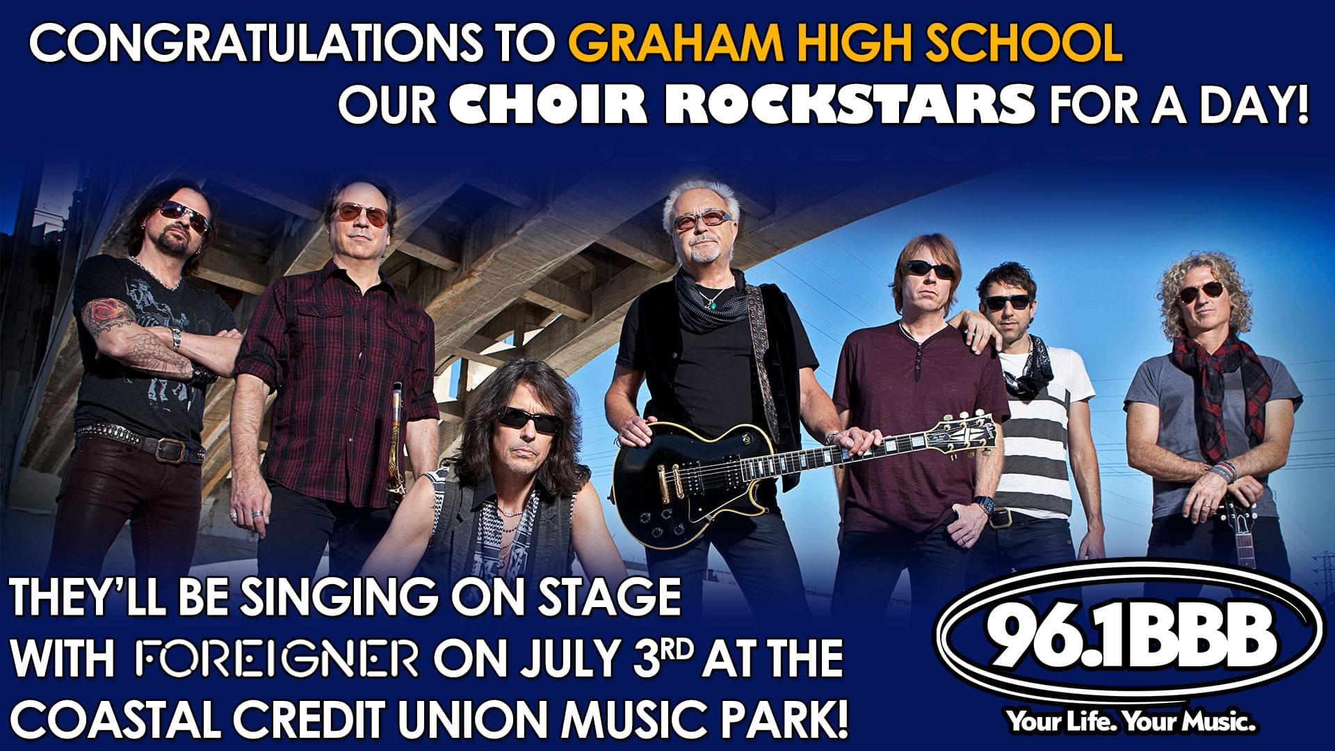 Congrats to Graham High School our Choir Rockstars for a Day!