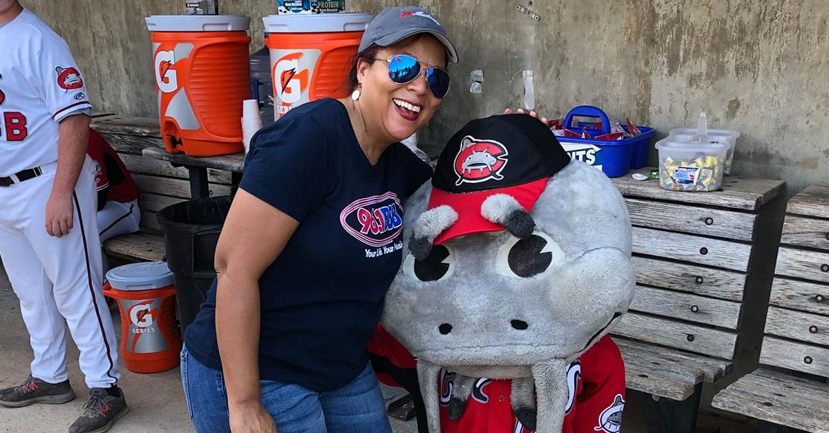 Watch: Madison Throws Out the First Pitch at Mudcats Game!