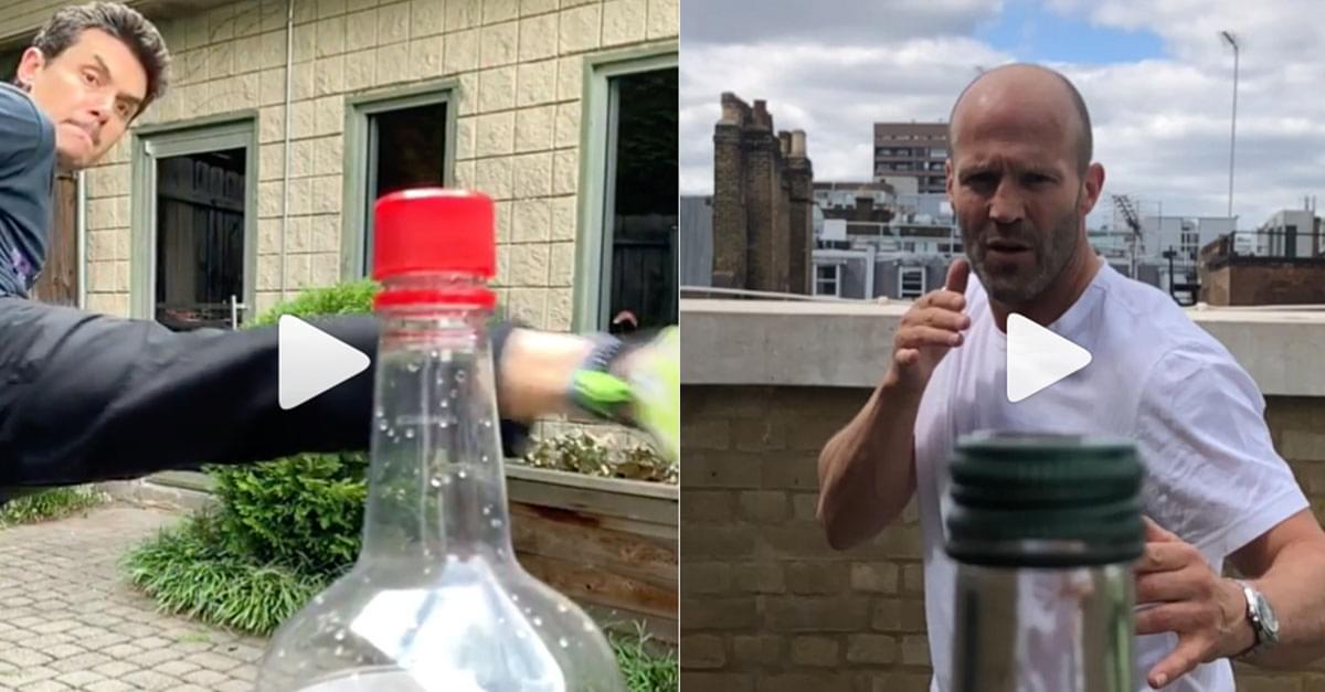 Watch: Bottle Cap Challenge