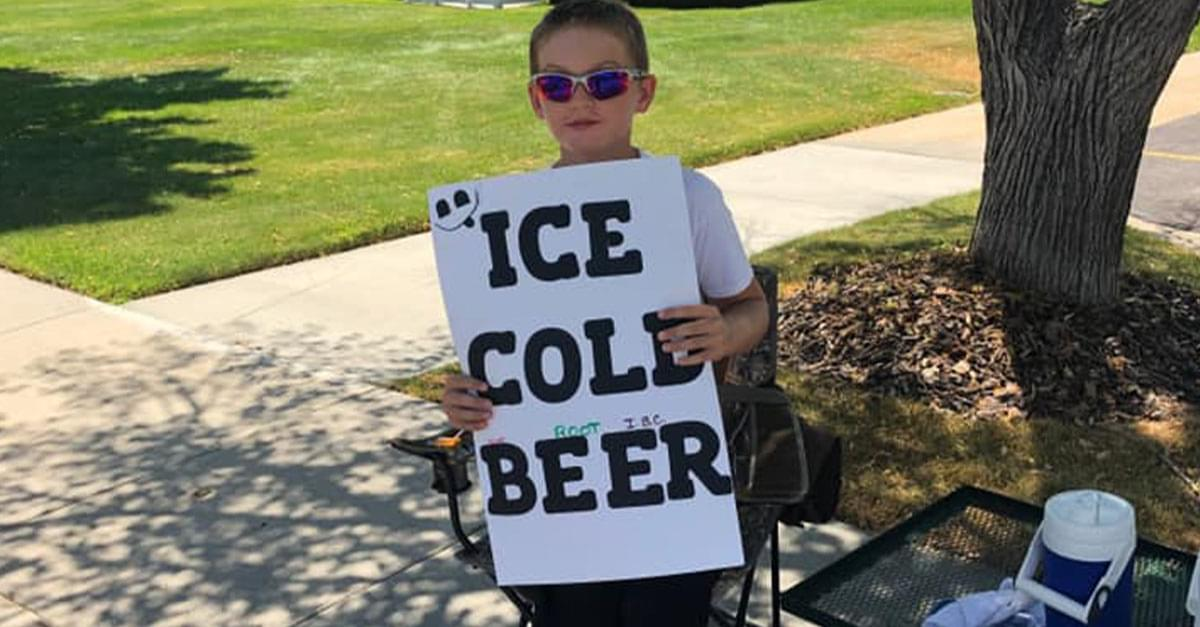 Police Called to Boy's 'Ice Cold Beer' Stand, Actually Root Beer
