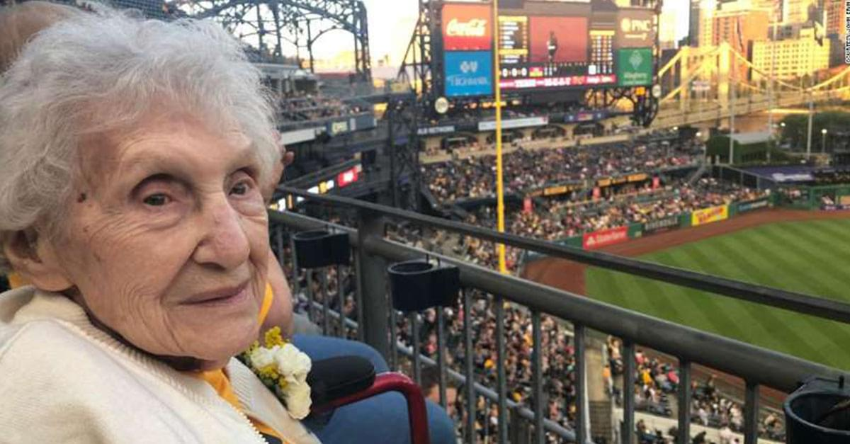 99-year-old Pirates fan Surprised With First Ballgame Ever