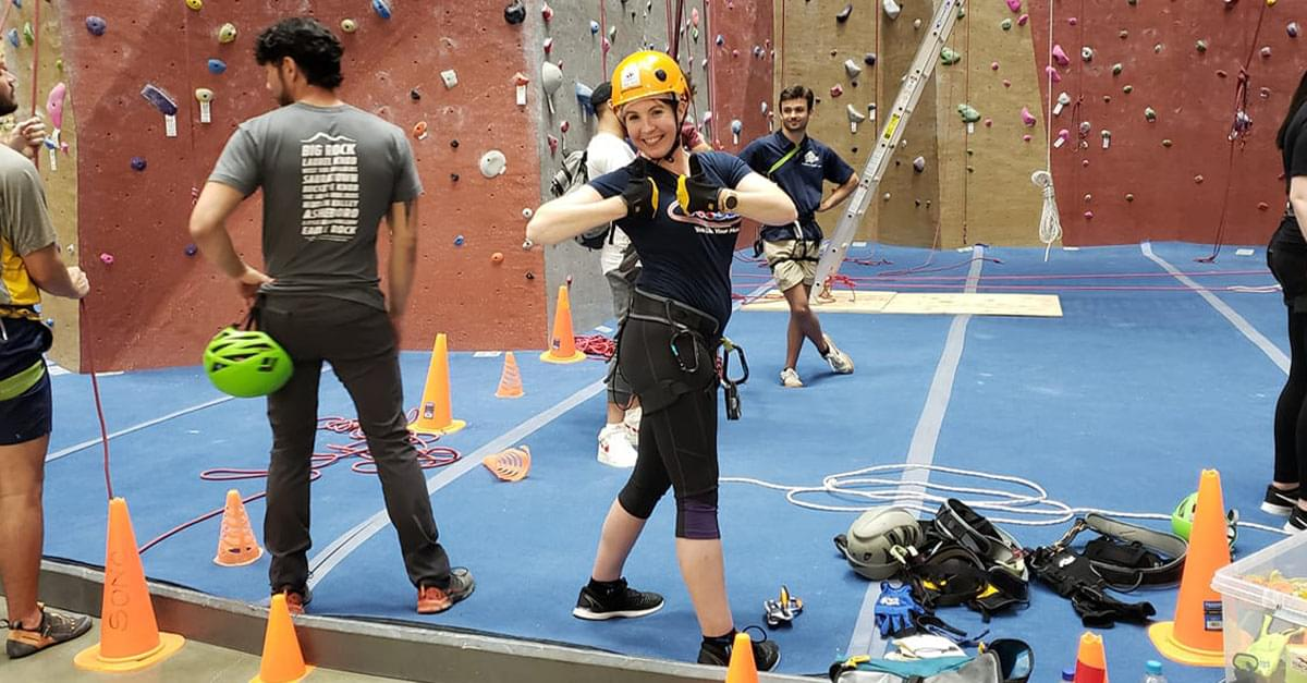 Watch: Lora Practices going Over the Edge