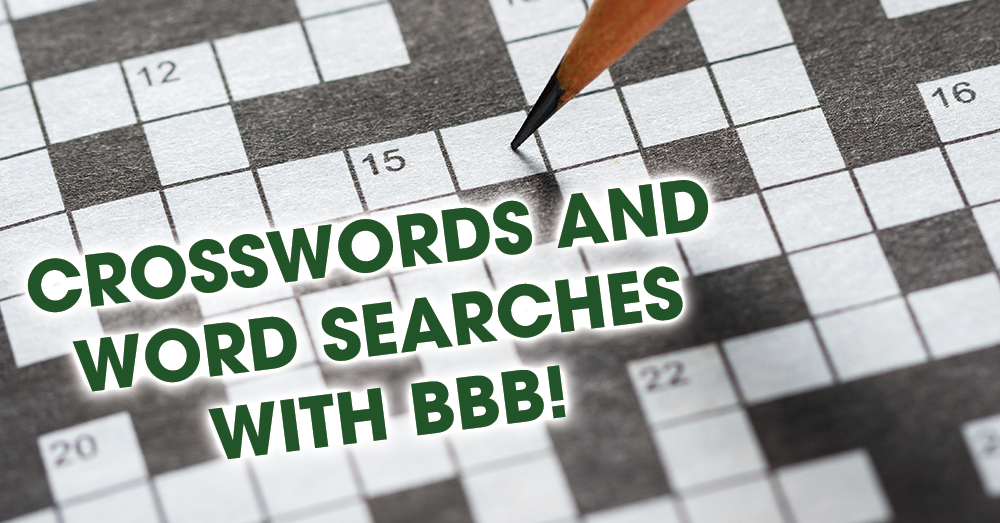 Word Searches and Crosswords