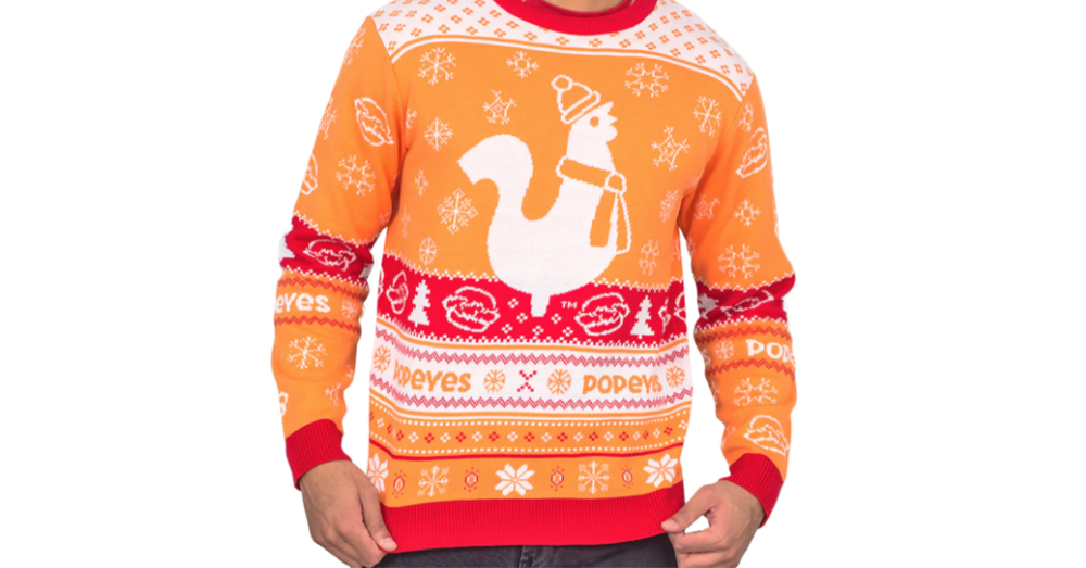 Popeyes Is Selling Christmas Sweaters!