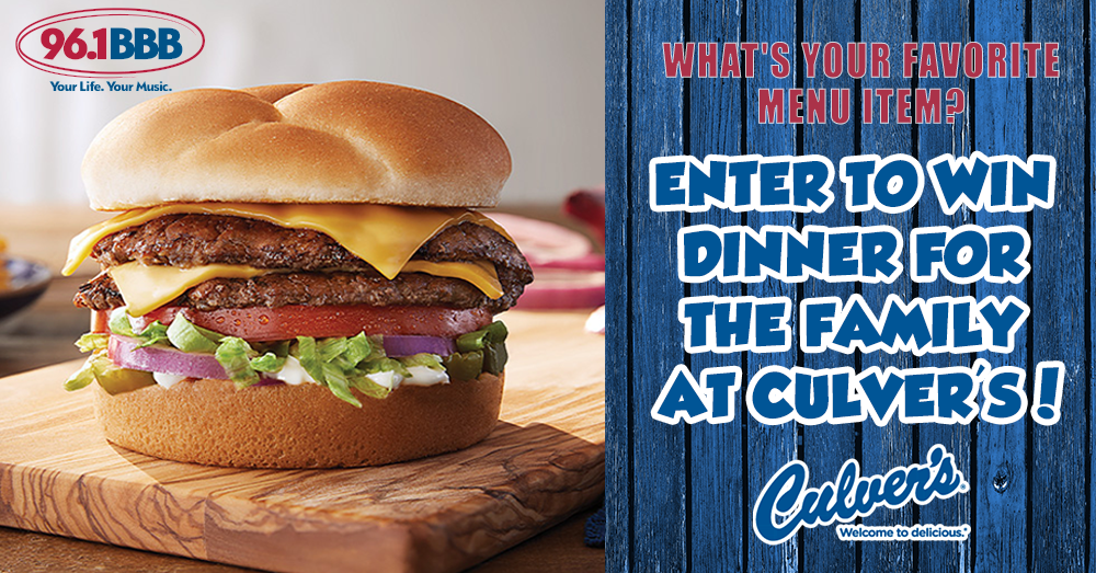 Enter to Win Dinner from Culver's