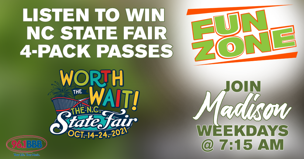 Fun Zone: Win NC State Fair 4-Pack Passes