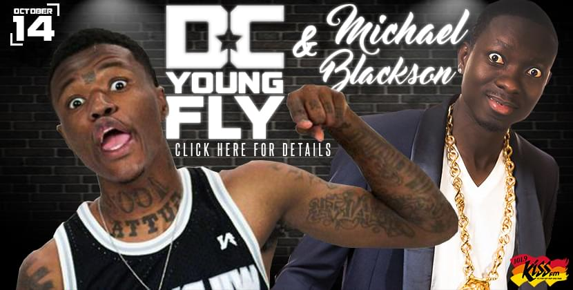 DC Young Fly And Michael Blackson October 14th At The Greenville Convention Center!