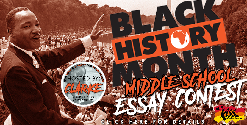 Black History Month Essay Contest COMING SOON!