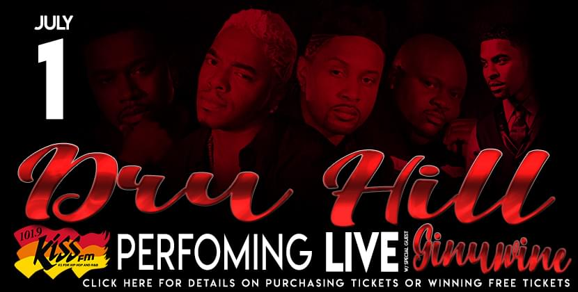 Dru Hill Performing Live at the Greenville Convention Center