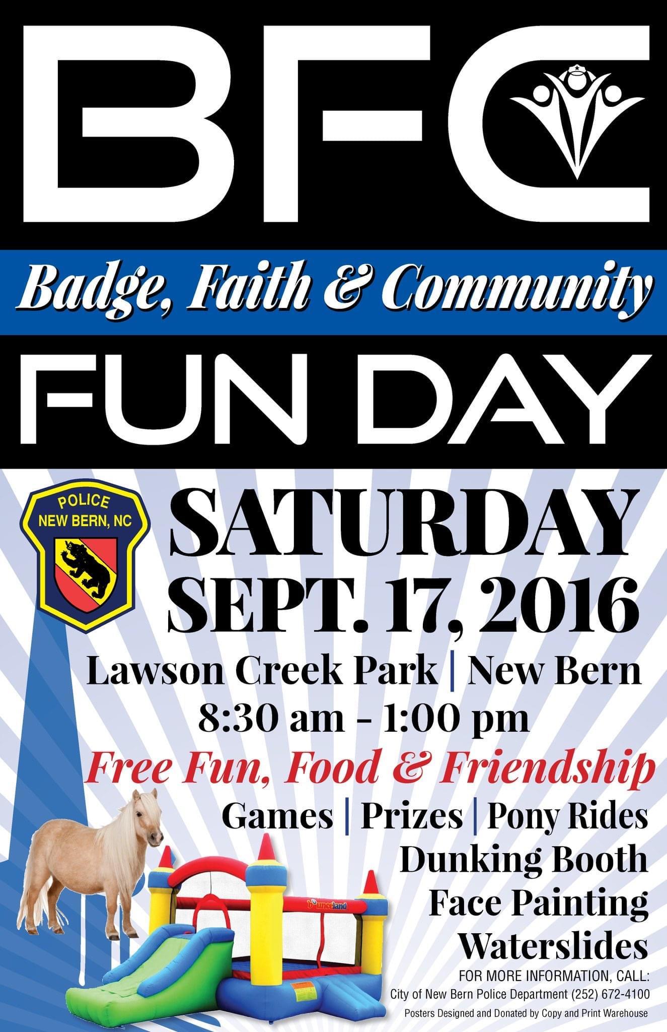Badge, Faith & Community Fun Day Happening September 15, 2018