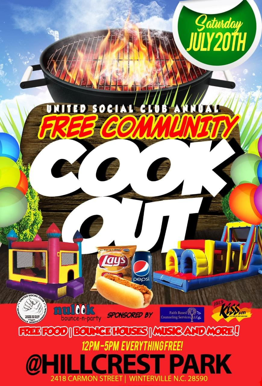 United Social Club Annual Free Community Cookout