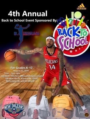 4th Annual Back to School Event Sponsored by Brandon Ingram