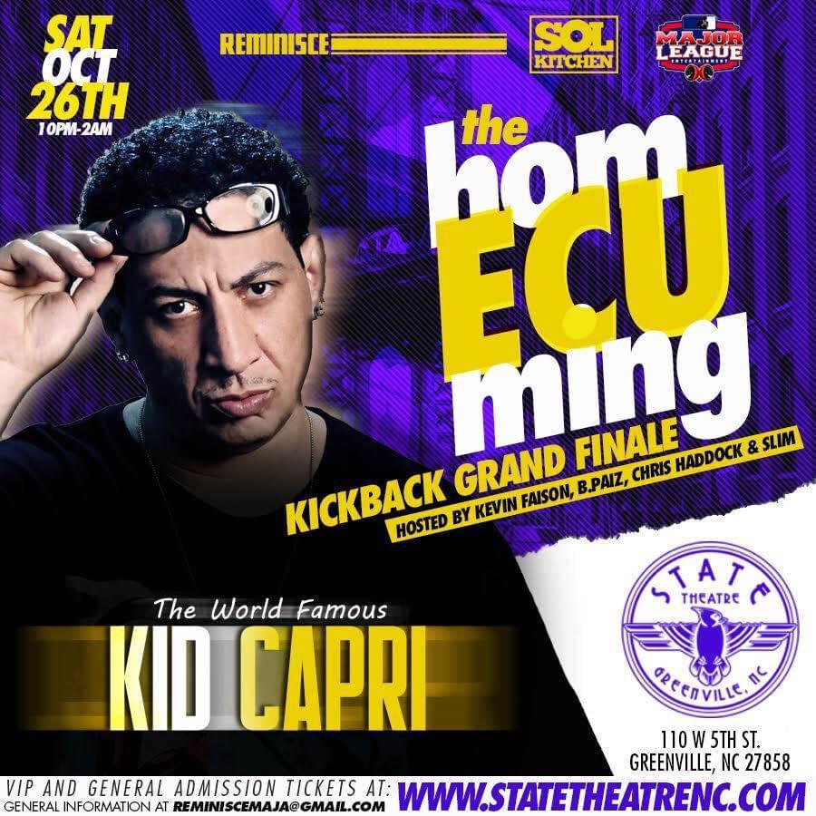 The ECU Homecoming Kickback Grand Finale