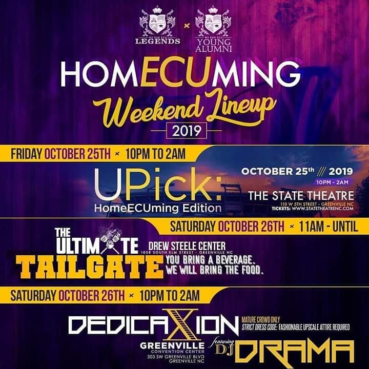 We Run ECU Homecoming Weekend Events