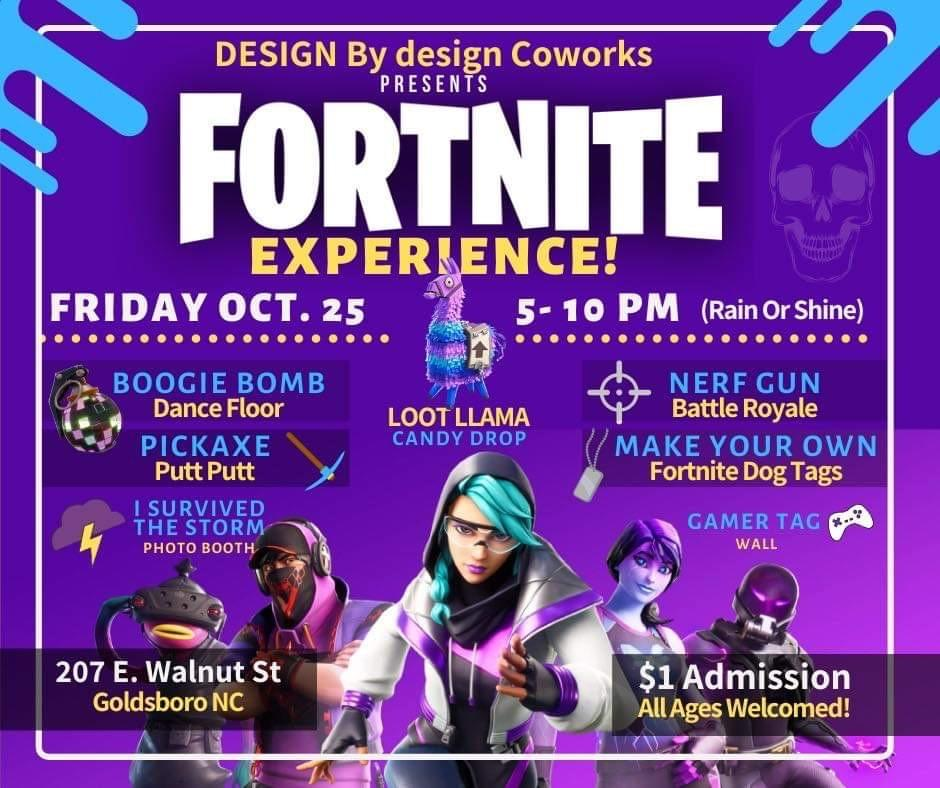 DESIGN BY DESIGN COWORKS PRESENTS THE FORTNITE EXPERIENCE