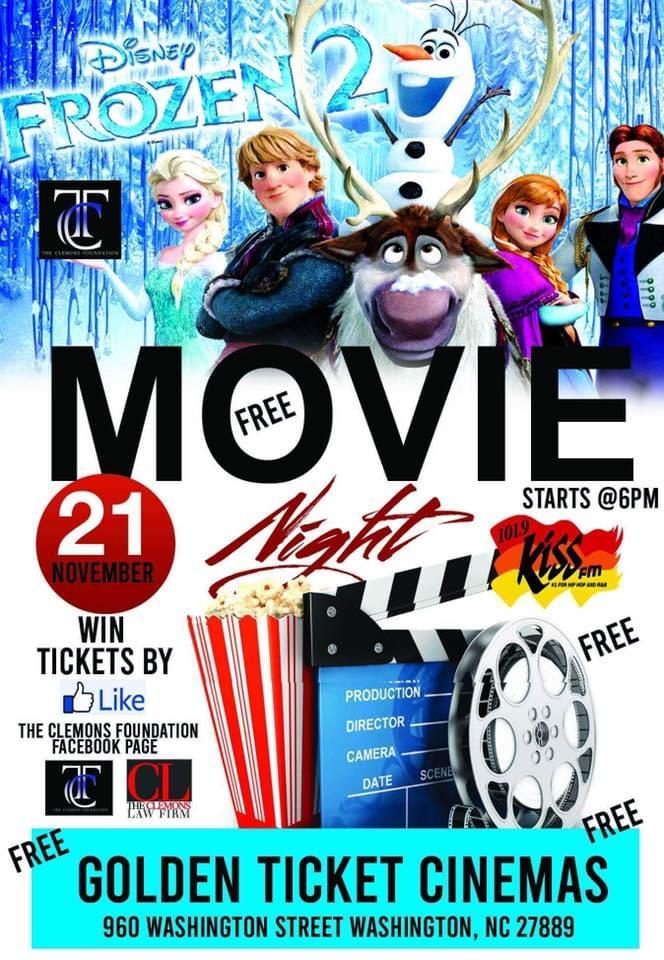 Free Movie Night Frozen 2