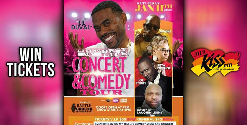 """Win Tickets To """"Livin' My Best Life Comedy Tour"""" With Lil Duvall!"""
