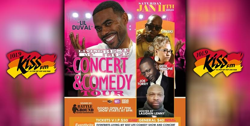 "Win Tickets To ""Livin' My Best Life Comedy Tour"" With Lil Duvall!"